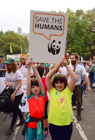 World Wildlife Fund Save the Humans Campaign at People's Climate March